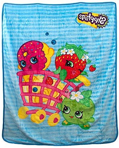 shopping basket characters plush throw