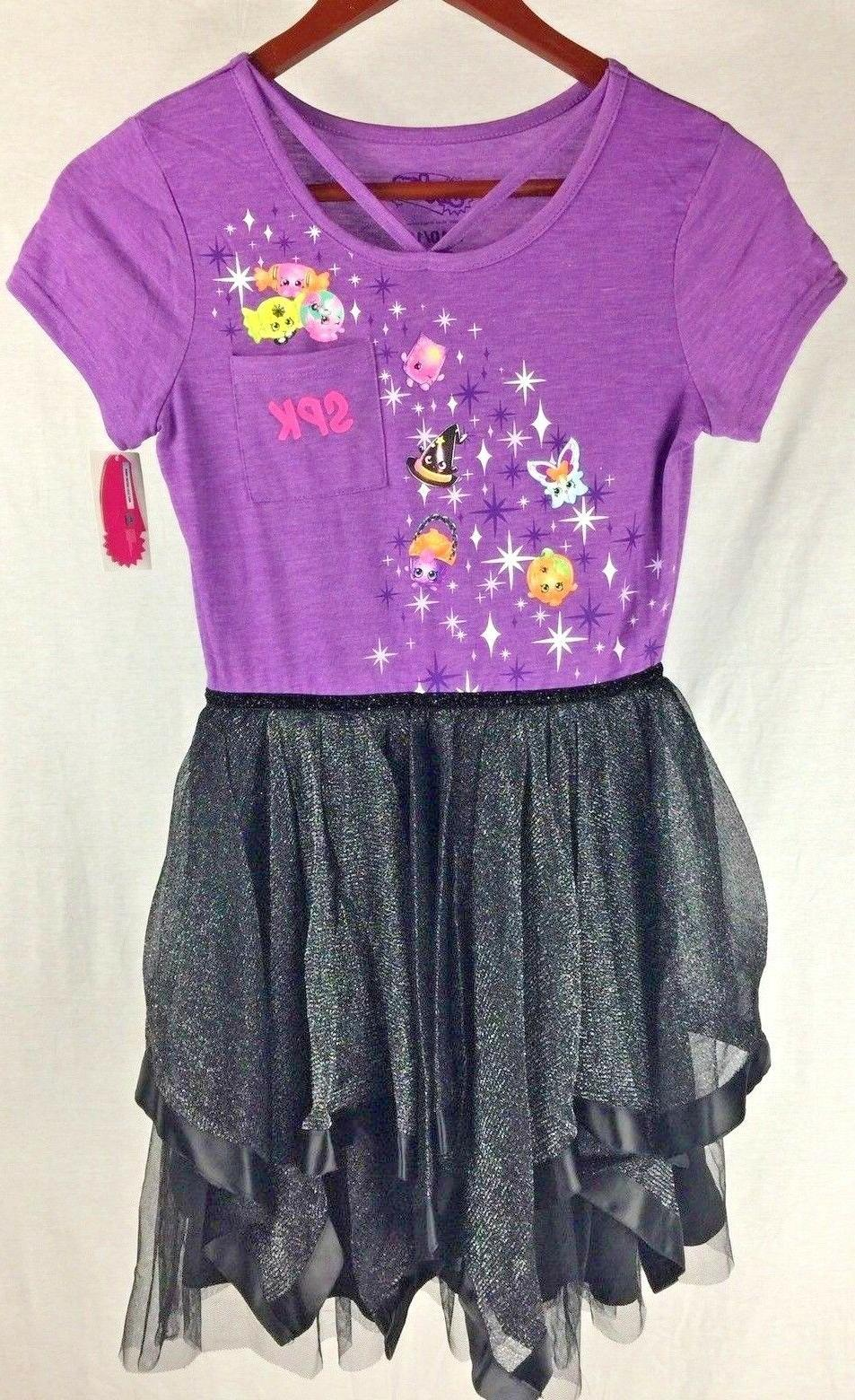 spk girls halloween t shirt dress purple