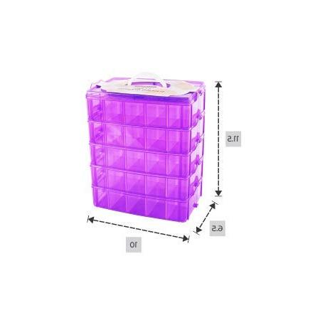 LifeSmart Stackable Storage Container - Adjustable - Store More Cases - - Pet and Crafts More!
