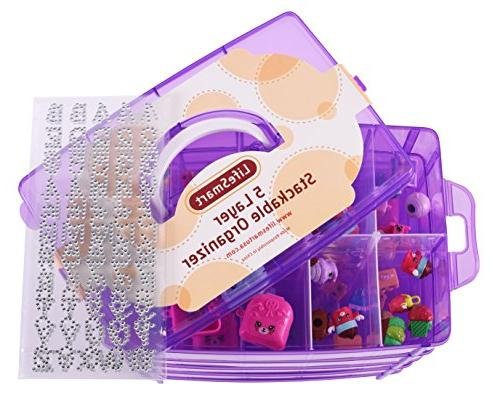 LifeSmart Container Adjustable Store More Than All Other Cases Lego - Shopkins Pet Shop and Crafts - and More!