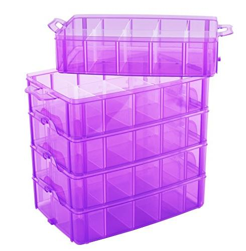 LifeSmart USA Container Purple Adjustable Store More Than All Cases - Shopkins Pet - and More!
