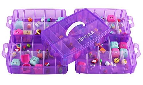 LifeSmart USA Stackable Container - 50 Adjustable More Than Other Cases Lego Dimensions - Shopkins - Pet Shop - and -