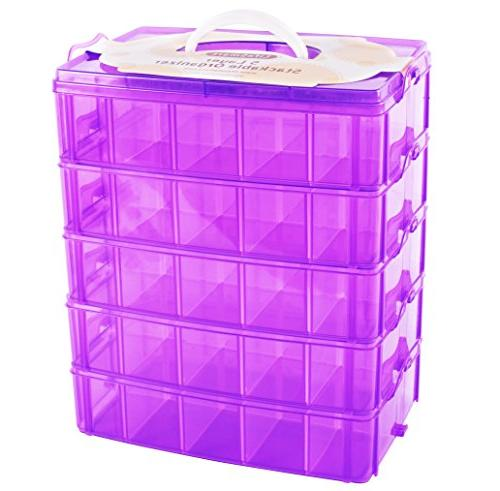 usa stackable storage container purple