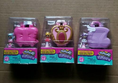 x 3 shopkins lil secrets locket teeny