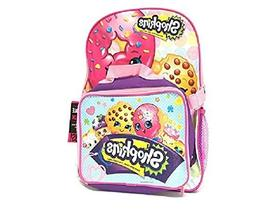 "Licensed Moose Shopkins Girl's 16"" Canvas Pink School Backpa"