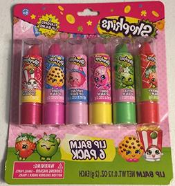 Shopkins 6 Pack Lip Balm - Once You Shop You Can't Stop