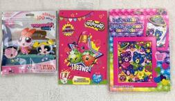 Lisa Frank Glitter Art Kit + Shopkins Sticker Pad + Power Pu