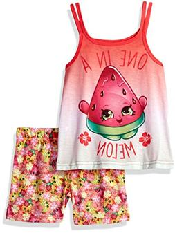 INTIMO Girls' Little Shopkins One in A Melon Pajama Tank Top
