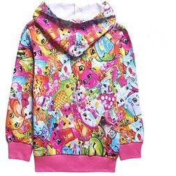 Shopkins Clothing Long Sleeve Front Zip Sweatshirt Sweater H