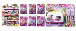 LOT 4- Shopkins Happy Places Rainbow Beach CAMPER VAN + 2 SH