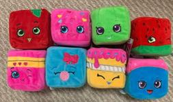 Lot 8 Plushies Shopkins Cubes Limited Edition Collectible Be