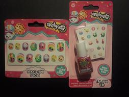 Lot Of 2, Shopkins Nail Art Set + Nail Sticker Decals Unopen