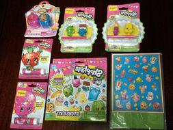 Lot of Shopkins Erasers Stickers Lip Balm