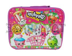 SHOPKINS LUNCH BOX! PINK PARTY BASKET GIRLS INSULATED SCHOOL