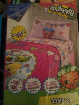 Shopkins Microfiber Soft Piece Twin Sheet Set 1 Fitted & Fla