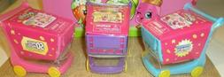 Shopkins Mini Shopping Cart With 50 Piece Puzzle 3 Qty NEW~~