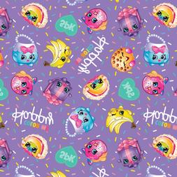 Moose Shopkins Color Me Happy 100% Cotton Fabric by the Yard