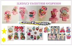 New Shopkins Birthday candles numbers party supplies & stick