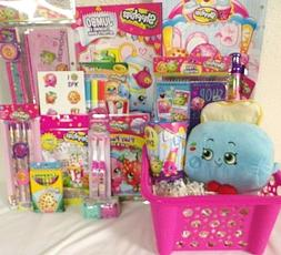 NEW SHOPKINS EASTER TOY GIFT BASKET plush puzzle candy TOYS