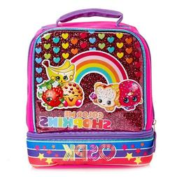 NEW Girls Shopkins Drop Bottom Lunch Box Insulated Apple Blo