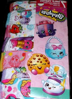 NEW Girls Shopkins 7 Pack Combed Cotton Brief Panties Underw