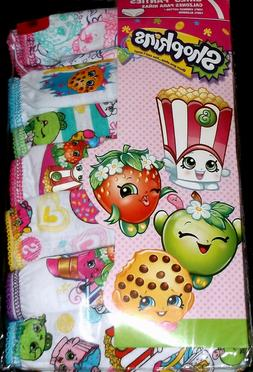 NEW Girls Shopkins 7 Pack Soft Combed Cotton Brief Panties U