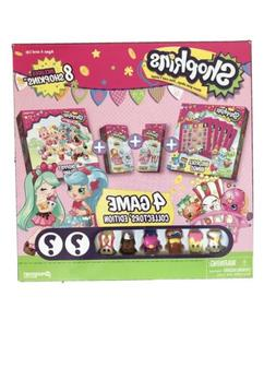 NEW IN BOX SHOPKINS 4 GAME COLLECTORS EDITION SET 8 FIGURES