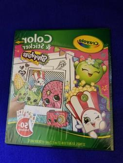NEW Crayola Shopkins Color and Sticker Book - Arts & Crafts