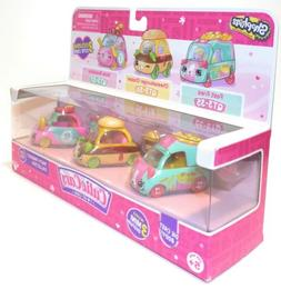 NEW Shopkins Cutie Cars Series 3 - Tasty Takeout 3-Pack QT3-