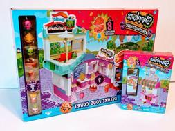 New Shopkins Deluxe Food Court & Soda Fountain Toys Action F