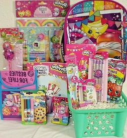 NEW SHOPKINS EASTER TOY GIFT BASKET BACKPACK LUNCH BOX TOYS