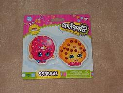 NEW, SHOPKINS ERASERS SET, KOOKY COOKIE & D'LISH DONUT