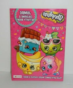 New Shopkins Jumbo Coloring & Activity Book - Filled w Games