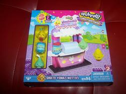 New Shopkins Kinstructions Cotton Candy Stand Set!