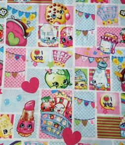 New Shopkins Patch Party Fabric BTY