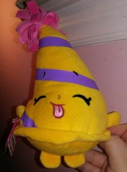 NEW Shopkins Plush Marty Party Hat Birthday Stuffed Toy FREE