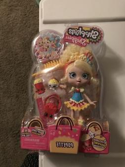 New Shopkins Shoppies Doll Popette - 2 Exclusive Shopkins &