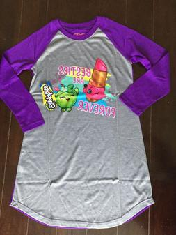 Shopkins Nightgown Pajamas sz 6 Besties Are Forever PJs NWT