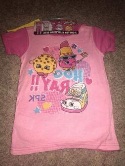NWT Girls Size 8 Shopkins Pajamas 2 Sets - 4 Pieces Shorts A