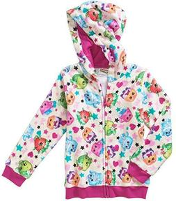 NWT Shopkins Little Girls Full Zip Fleece Lined Hoodie Size