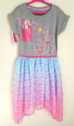 NWT New SHOPKINS GIRLS Tunic DRESS CLOTHES high low tulle pi