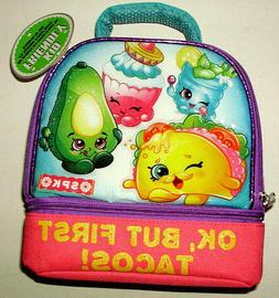 OK BUT FIRST TACOS Shopkins Soft Cover Lunch Bag Box Insulat