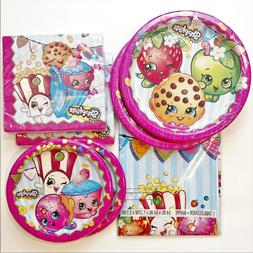 SHOPKINS Party Supplies 65pc 16 Large 16Small Plates 32 Napk