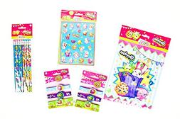 Shopkins Party Supplies Favor Bundle includes Sticker, Brace
