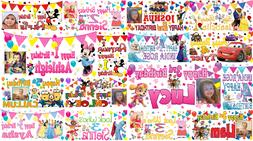 Large 4ft personalised birthday banner with photo name age 1