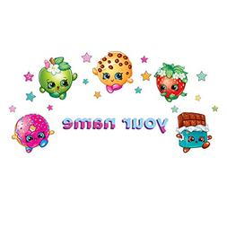 Oliver's Labels Personalized Shopkins Kids Name Wall Decal