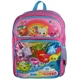 Shopkins Girls Pink Cargo Backpack 16""