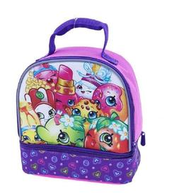Shopkins Pink Girls Kids Lunch Box Tote Bag Snack Bag Detach