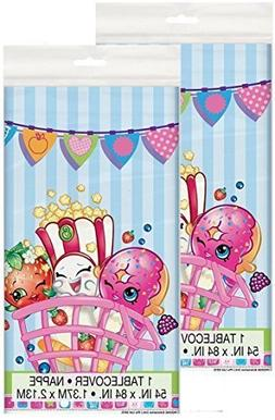 Shopkins Plastic Tablecloth, 84 x 54, Two Pack Bundle