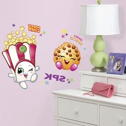 Poppy Corn & Kooky Cookie Shopkins Peel & Stick Giant Wall D
